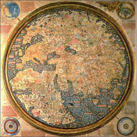 World map from Europe of 1459