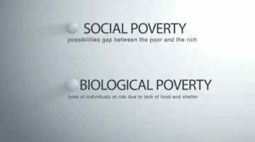 Biological vesus social poverty