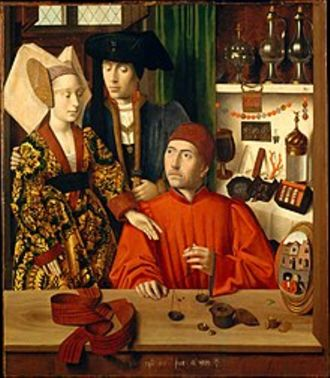 A goldsmith in his shop (1449)