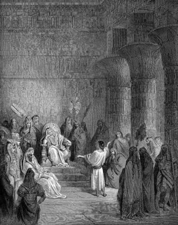 Joseph with the Pharaoh