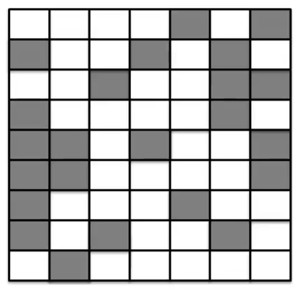 Percolation checker board