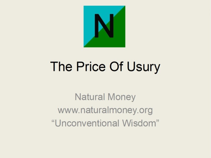 The price of usury; public versus private banking