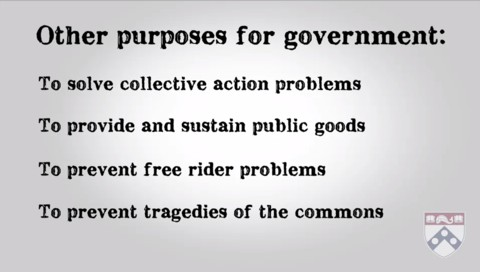 other purposes for government