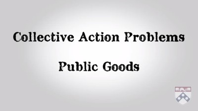 collective action problems and public goods
