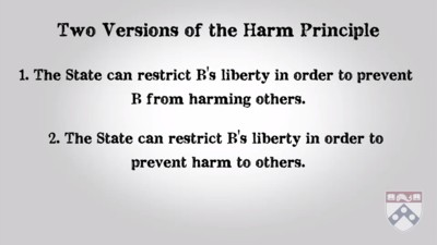 two versions of the harm principle