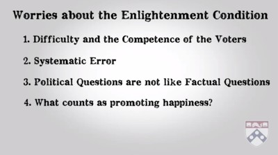 worries about the enlightenment condition