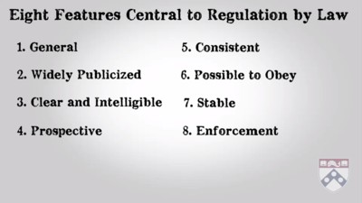 features central to regulation by law