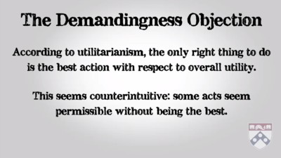 demandingness objection