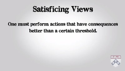 satisficing views