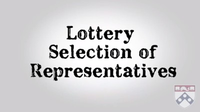 lottery selection of representatives