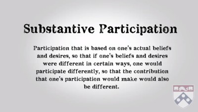 substantive participation