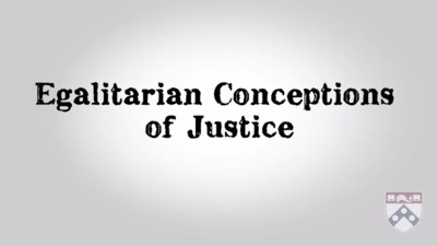 egalitarian conceptions of justice