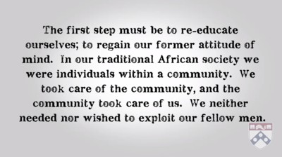 Julius Nyerere's view