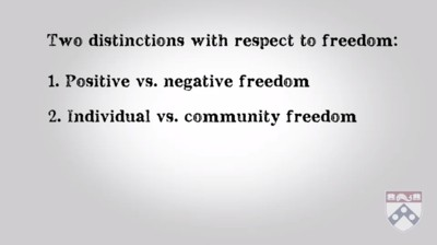 distinctions with respect to freedom