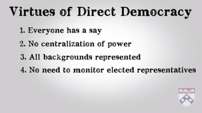 virtues direct democracy