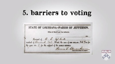 barriers to voting