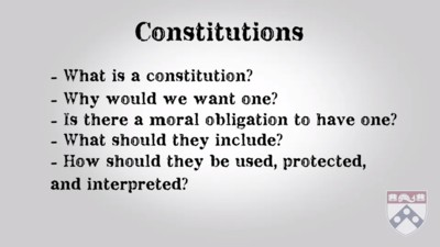 Questions regarding constitutions