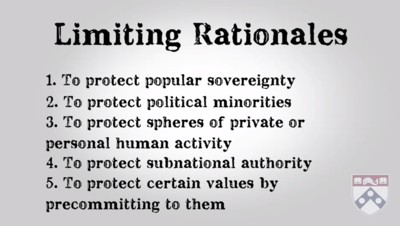 limiting rationales