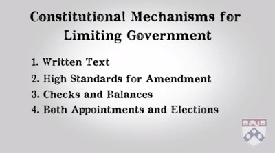 mechanisms of constitutional limitations
