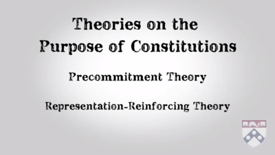 theories on the purpose of constitutions