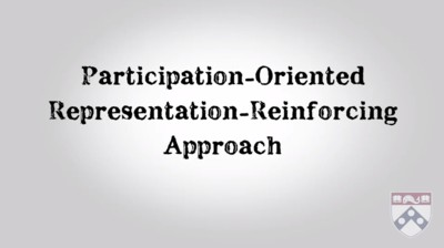 participation oriented, representation reinforcing approach