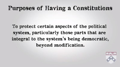 purposes of having constitutions