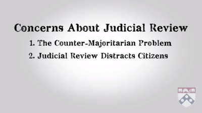 concerns judicial review