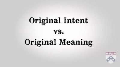 intent versus meaning