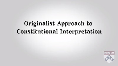 originalist approach