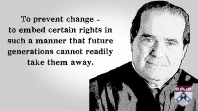 Antonin Scalia's view