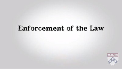 enforcement of the law