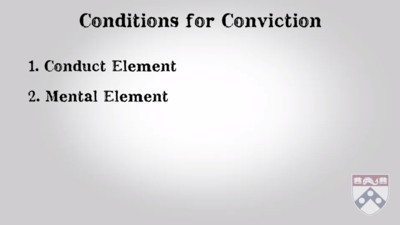 conditions for conviction