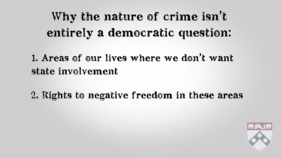 why the nature of crime is not an entirely democratic question
