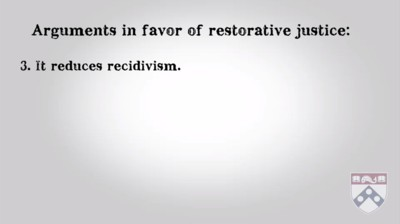 arguments in favour of restorative justice